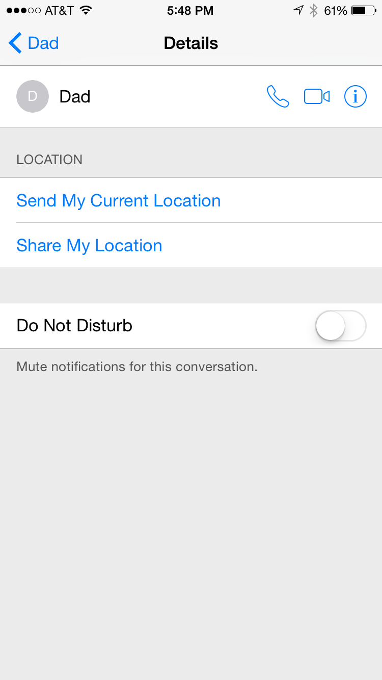 sharing location ios8